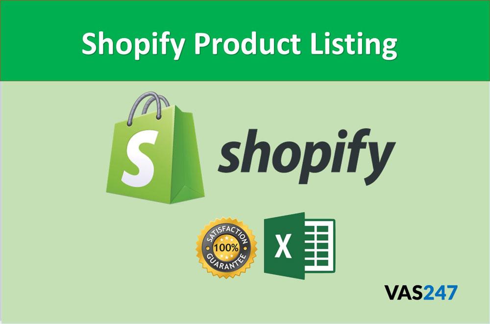 Shopify Product Listing VAS247